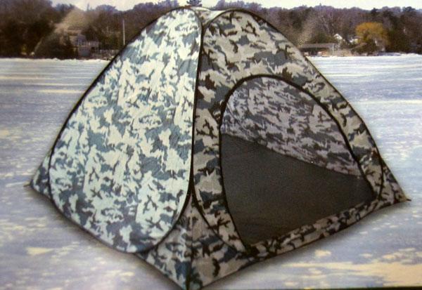 Зимняя палатка (палатка для зимней рыбалки) белый камуфляж 2.5х2.5
