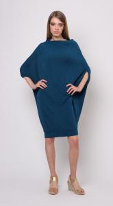 Фото  Туника-блузон асимметричного кроя из трикотажа с люрексом