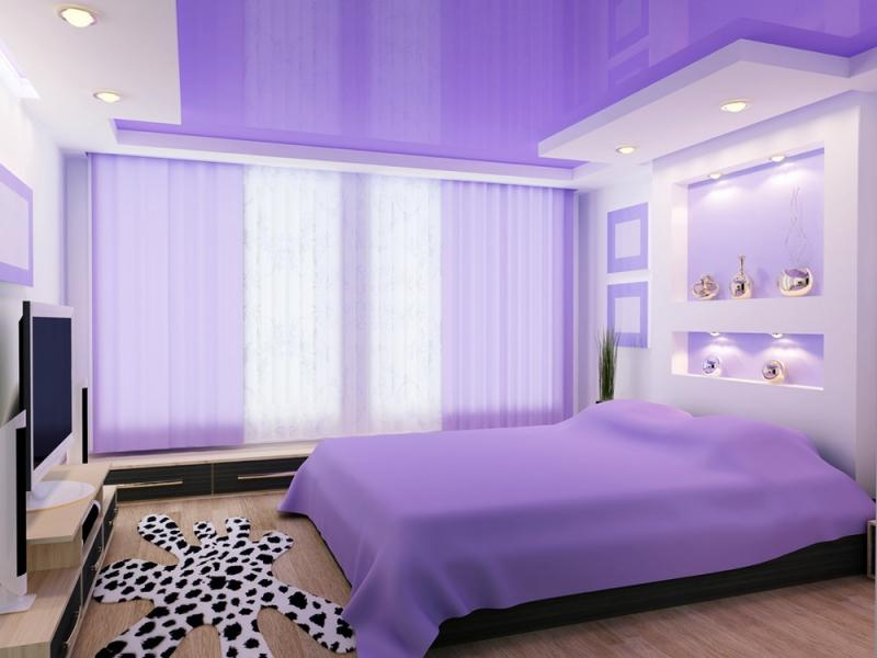Натяжні стелі в спальні Луцьк