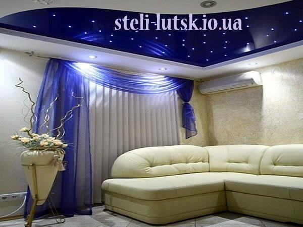 Натяжна стеля зоряне, голубе небо Луцьк
