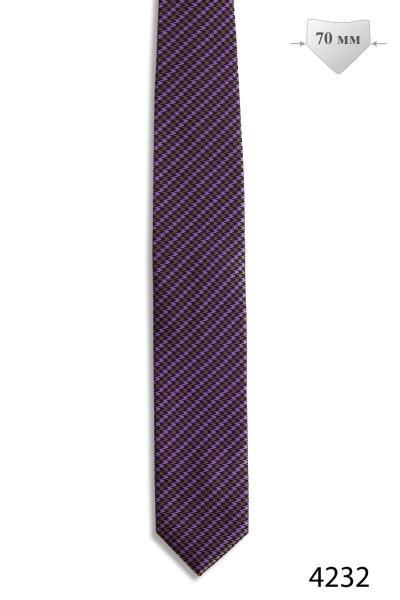 Галстук 4232 евро 7 см, фиолетовый