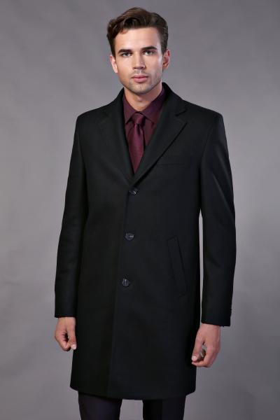 Пальто Пальто шерсть черное W101-ПЛ23