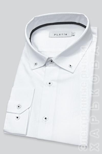 Рубашка JS-P1   белый - Пальто мужское на рынке Барабашова