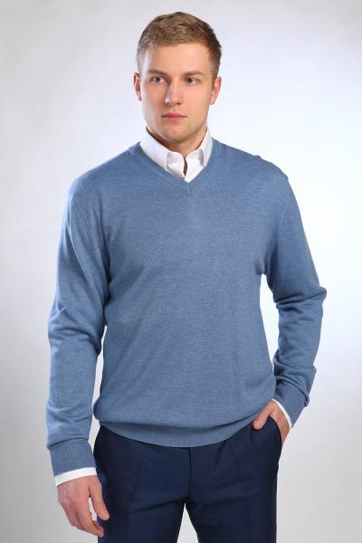 Джемпер 6002-4 Н серо-голубой, размеры 50-58, рост 200-206