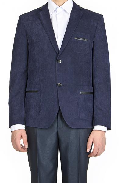 Пиджак вельветовый, синий