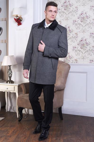 Пальто мужское Virgin светло-серое