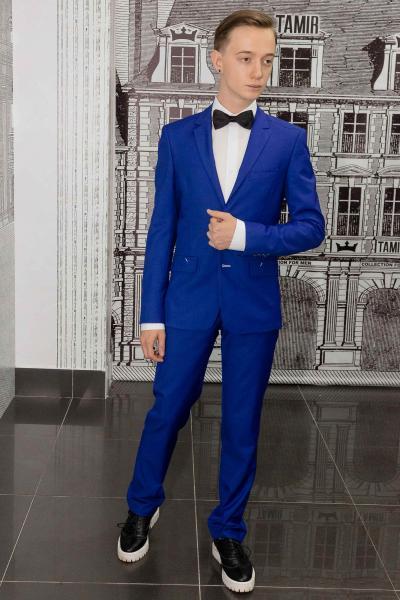 Костюм мужской ярко-синий