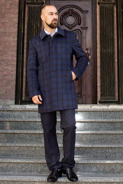 Пальто мужское Donato коричневая клетка