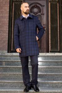 Фото Верхняя одежда Пальто мужское Donato коричневая клетка
