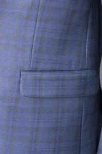 Фото Костюмы Костюм мужской синий в клетку