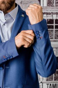 Фото Пиджаки Пиджак молодежный фактурный светло-синего цвета