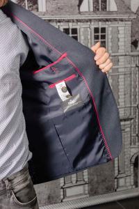 Фото Пиджаки Пиджак мужской темно-серого цвета с заплатками