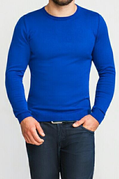 Джемпер мужской ярко-синий