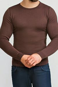Фото Трикотаж Джемпер мужской коричневый