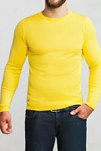Джемпер мужской желтый