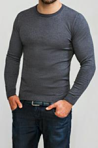 Фото Трикотаж Джемпер мужской темно-серый