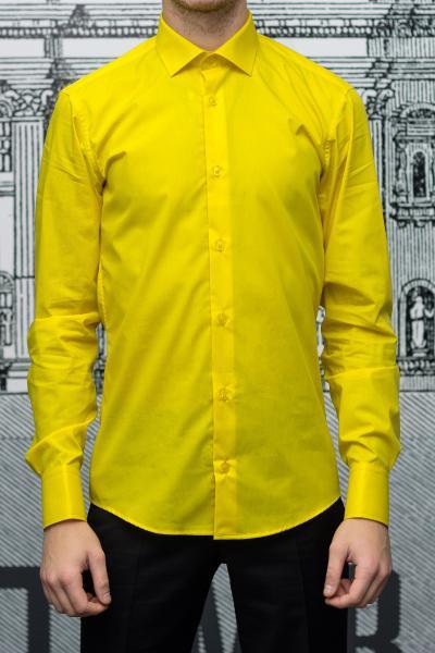 Рубашка мужская Slim Fit желтая