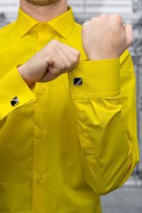 Фото Рубашки Рубашка мужская Slim Fit желтая