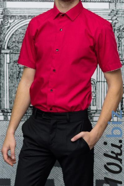 9eae73584a3a8d9 Рубашка мужская Slim Fit красная с коротким рукавом купить в Харькове - Мужские  рубашки