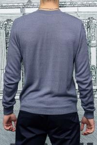 Фото Трикотаж Пуловер мужской с узором сиреневого цвета