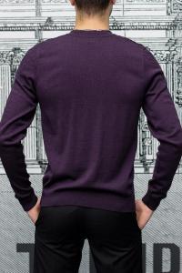 Фото Трикотаж Пуловер мужской с узором фиолетового цвета