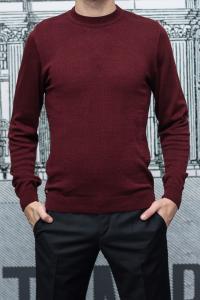 Фото Трикотаж Джемпер мужской бордового цвета, вискоза