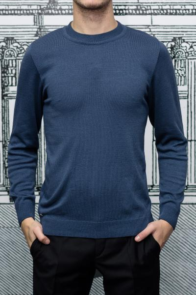 Джемпер мужской синего цвета, вискоза