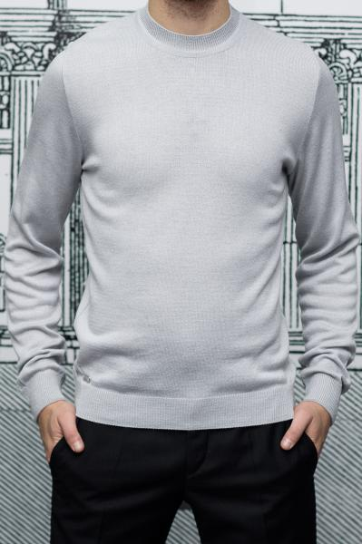 Джемпер мужской светло-серого цвета, вискоза
