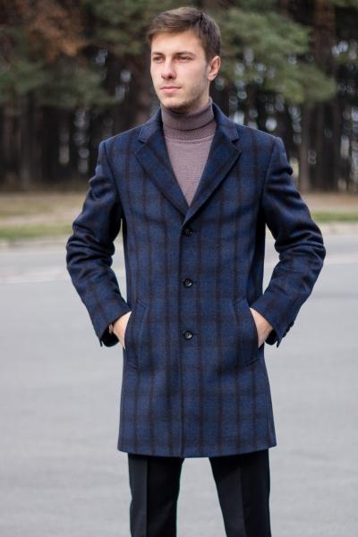 Пальто мужское Dante коричневая клетка