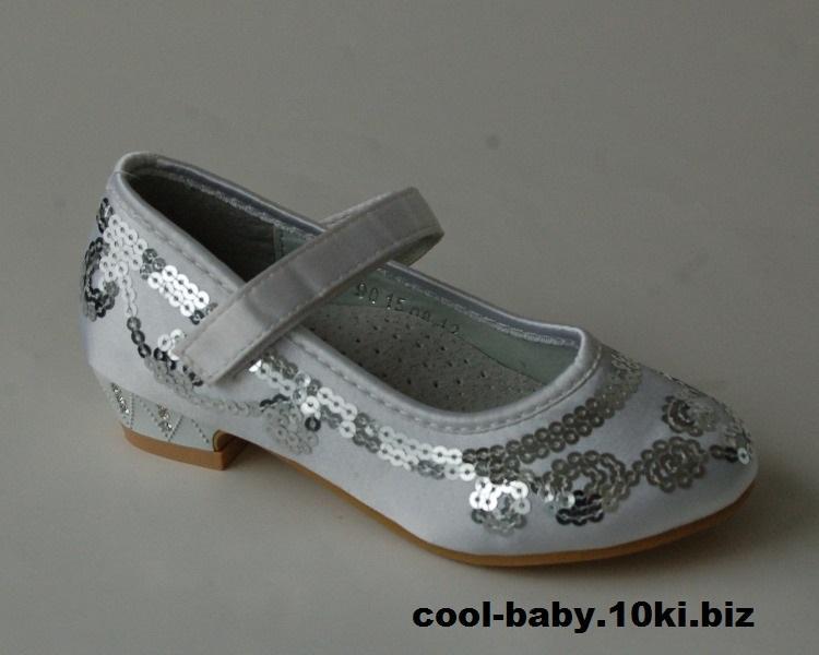 Детские туфли для девочки Шалунишка белый атлас 25