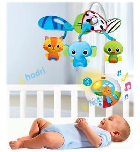 Фото       Для малышей, Мобили (карусельки) и игрушки на кроватки, коляски и автокресла  Мобиль Tiny Love «PeekaBoo» Игра в прятки
