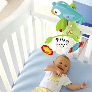 Фото       Для малышей, Мобили (карусельки) и игрушки на кроватки, коляски и автокресла  Мобиль Fisher-Price 3 в 1Веселый попугай