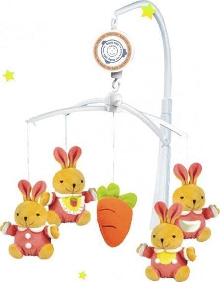 Музыкальный мобиль Baby Mix TK/708M Кролики