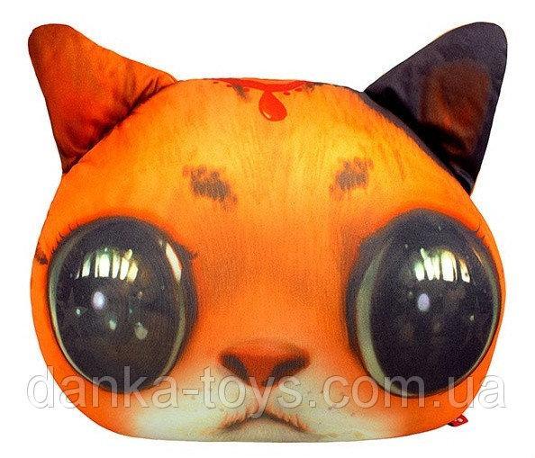 """Мягкая игрушка антистресс """"Кот глазастик"""" рыжий"""