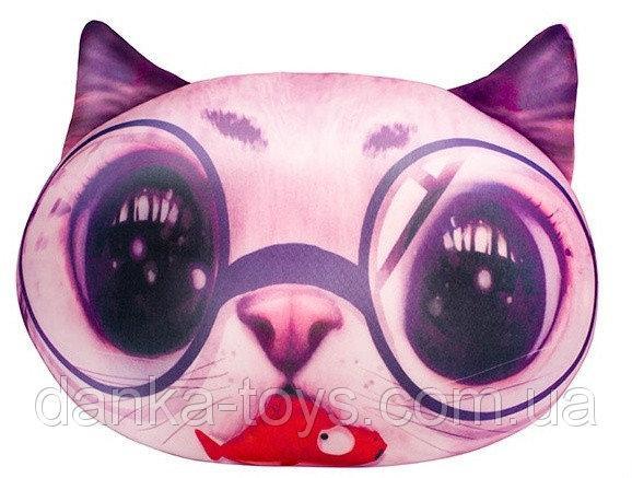 """Мягкая игрушка антистресс """"Кот глазастик"""" розовый"""