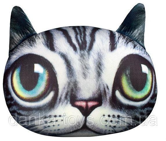 """Мягкая игрушка антистресс """"Кот глазастик"""" серый"""