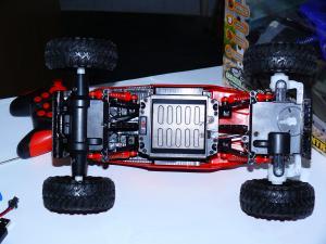 Фото Машины, багги, траги, монстры. Машинка вездеход 4х4 СRAWLER, длина 29 см. № 0135. Красная.