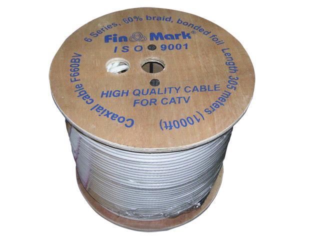 "TV кабель 75 0м ""FinMark"" 660 white (305 м)."