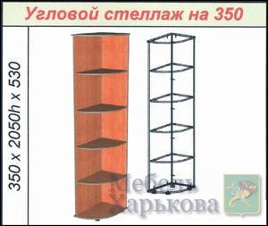 Угловой стеллаж на 350 - Шкафы для спальни в Харькове