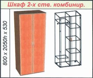 Шкаф 2-х ств. комбинир.