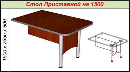 Стол Приставной на 1500