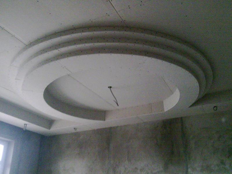Гипсокартонные работы: монтаж потолков из гипсокартона,возведение перегородок
