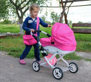 Фото Коляски для кукол , Для девочек  Коляска для куклы Adbor Lily