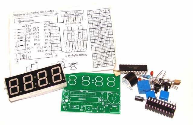 Набор для сборки Электронные часы на AT89C2051