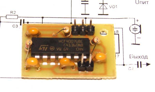 Микрофонный усилитель для электретных микрофонов