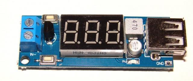 Зарядное устройство USB с вольтметром DC4.5-40В до 5В 2А