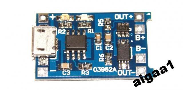 Зарядное TP4056 литиевых аккум + защита разряда