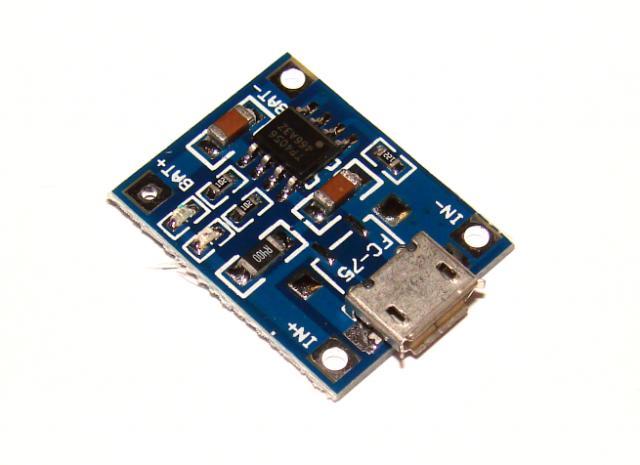 TP4056 модуль , зарядное LI-ION micro USB