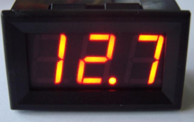 Вольтметр 4-30V красный индикатор