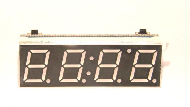 Автомобильный вольтметр + температура + часы
